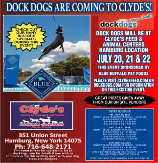 Dock Dogs Are Coming To Clyde's!