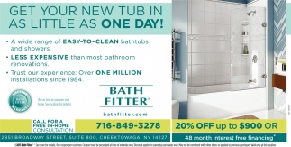 Get Your New Tub InAs Little As One Day!