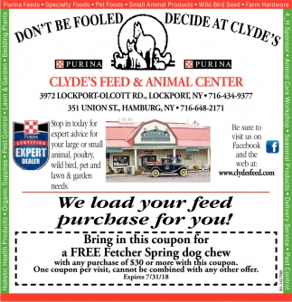We Load Your Feed Purchase For You!