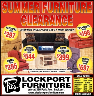 Summer Furniture Clearance