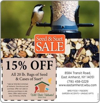 Seed And Suet Sale