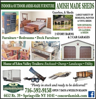 Indoor And Outdoor Amish-Made Furniture Order Soon And Enjoy For The Holidays