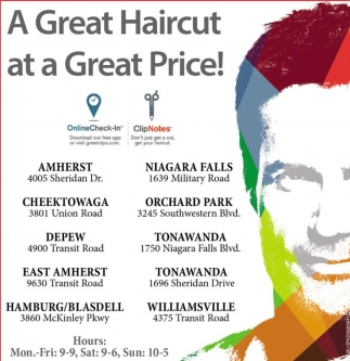 A Great Haircut A Great Price Great Clips East Amherst Ny