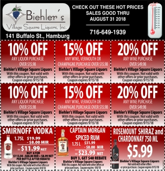 Check Out These Hot Prices Sales Good Thru August 31 2018