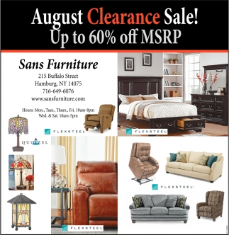 August Clearance Sale!