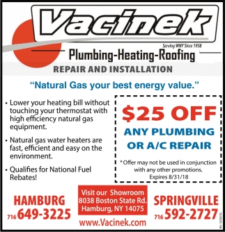 Plumbing - Heating - Roofing