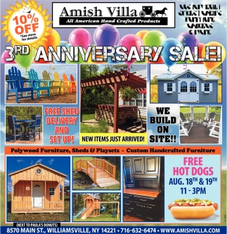 3rd Anniversary Sale!