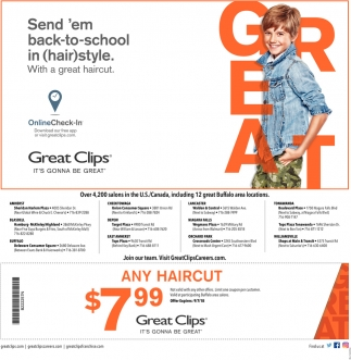 Sendem Back To School In Hairstyle Great Clips East Amherst Ny