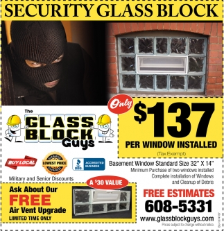 Security Glass Block