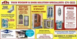 Your Window And Door Solution Specialists