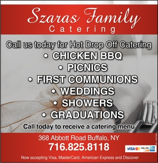 Call Us Today For Hot Drop Off Catering