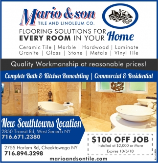 Flooring Solutions For Every Room In Your Home Mario And Son Tile And Linoleum Co. ...