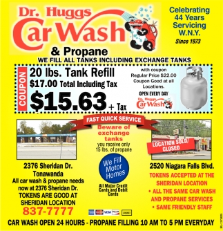Celebrating 44 years serving wny dr huggs car wash and propane solutioingenieria Choice Image