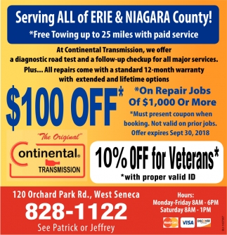 Serving All Of Erie And Niagara County!