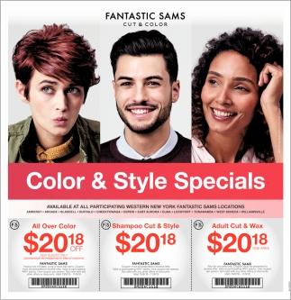 Color Style Specials Fantastic Sams Cut And Color Buffalo Ny