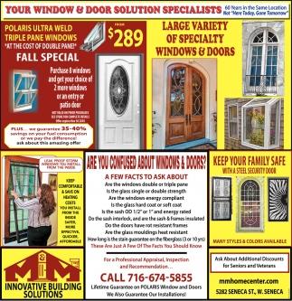 Your Window And Door Solution Specialists