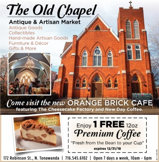 Come Visit The New Orange Brick Cafe