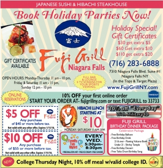 Book Holiday Parties Now!