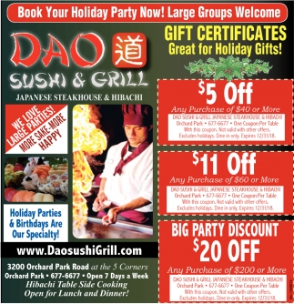 Gift Certificates Great For Holiday Gifts!