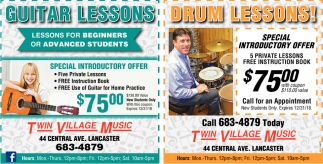 Guitar Lessons - Drum Lessons!