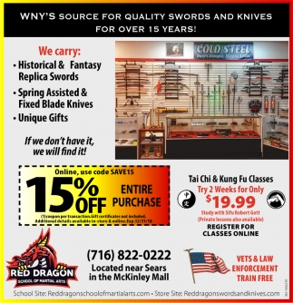 WNY's Source For Quality Swords And Knives For Over 15 Years