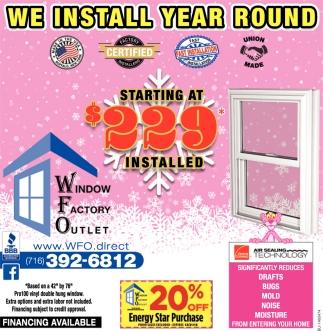 We Install Year Round