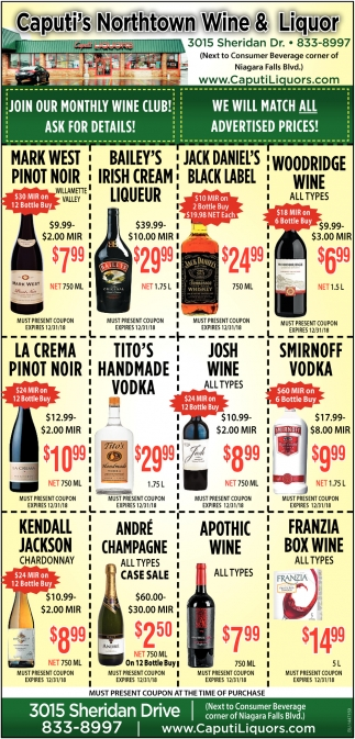 Join Our Monthly Wine Club! Ask For Details!