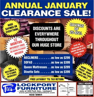 Annual January Clearance Sale!