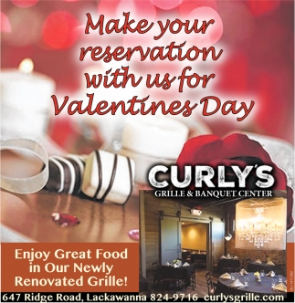 Make Your Reservation With Us For Valentines Day
