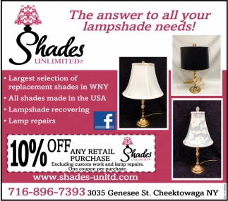 The Answer To All Your Lampshade Needs!