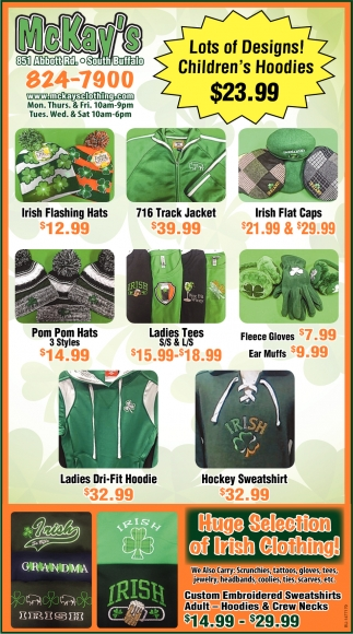 Huge Selection Of Irish Clothing!