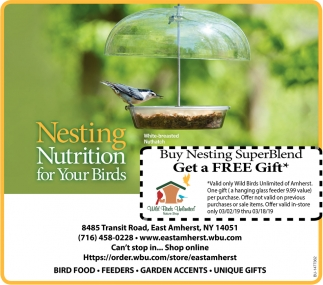 Nesting Nutrition For Your Birds