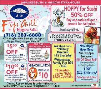 Hoppy For Sushi 50% Off
