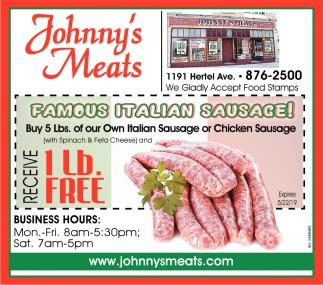 Famous Italian Sausage!