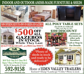Indoor And Outdoor Amish Made Furniture & Sheds