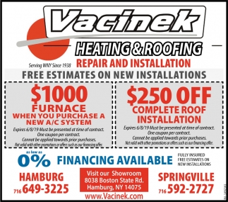 Free Estimates On New Installations