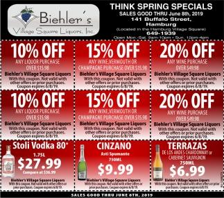 Think Spring Specials