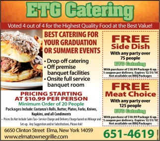 Best Catering For Your Graduation Or Summer Events