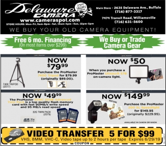 We Buy Your Old Camera Equipment!