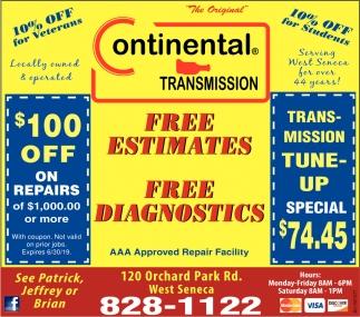 Free Estimates Free Diagnostics