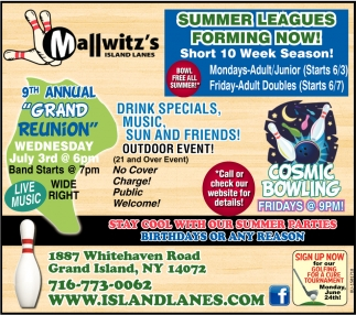Summer Leagues Forming Now!