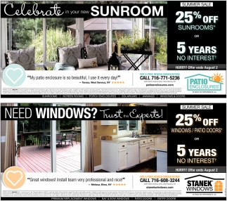 Celebrate In Your New Sunroom