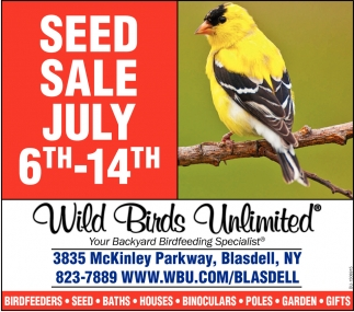 Seed Sale July 6th - 14th