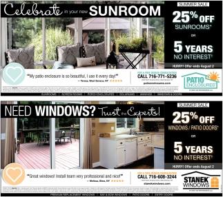 Celebrate In Your New Sunroom