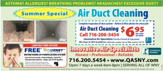 Summer Special Air Duct Cleaning