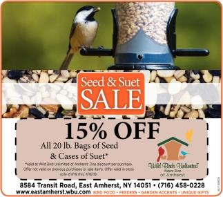 Seed & Suet Sale