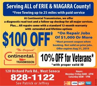 Serving All Of Erie & Niagara County