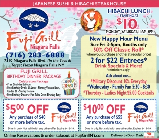 Hibachi Lunch Starting At $10