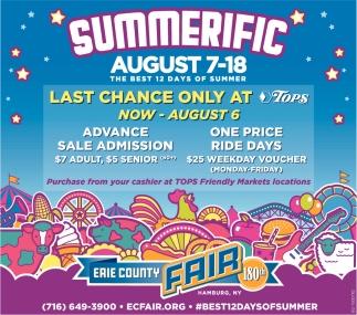 Summerific August 7-18
