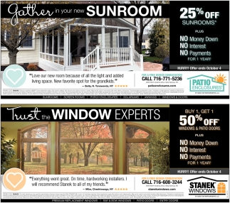 Gather In Your New Sunroom